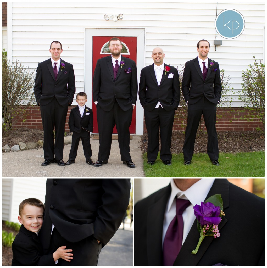 groom portraits with ring bearer