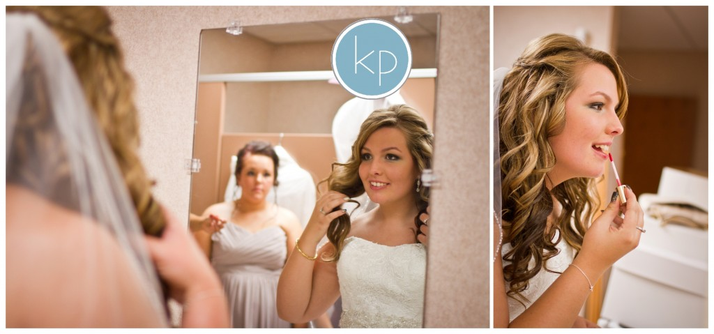 bride getting ready for wedding
