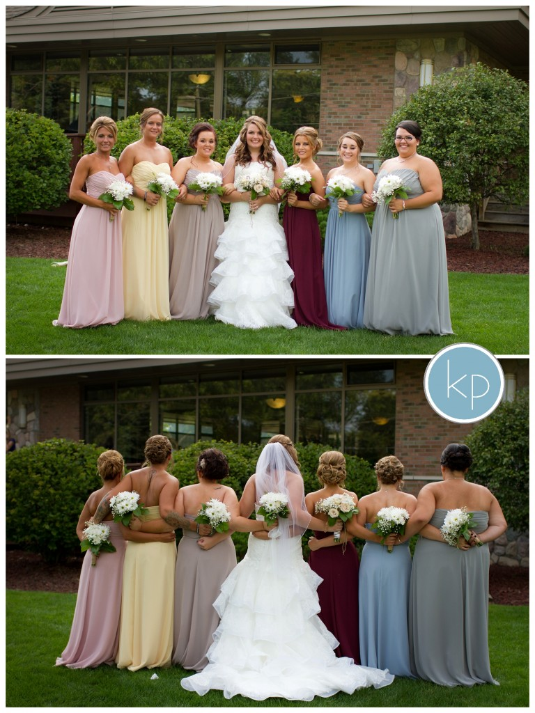bridesmaids posing