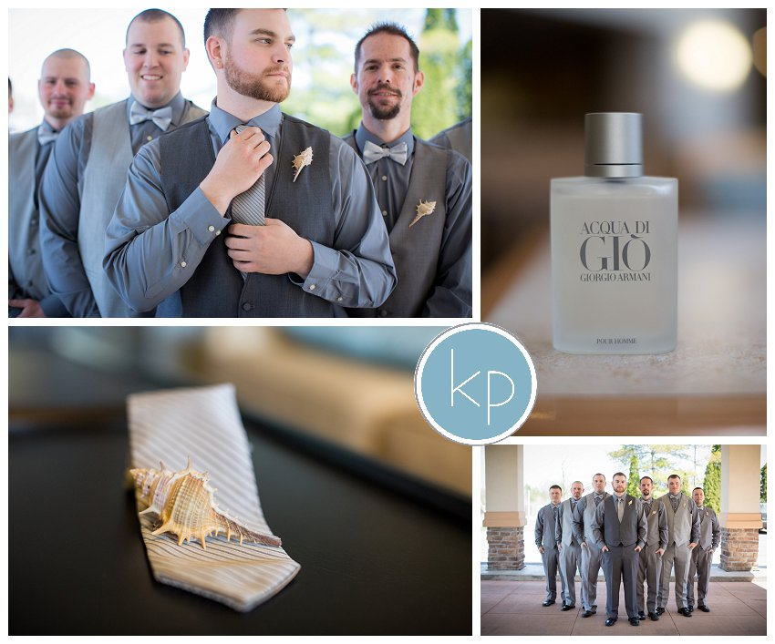 groom and groomsmen with details