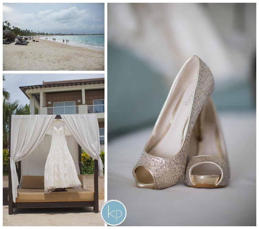 Bride details, Bride shoes, beach