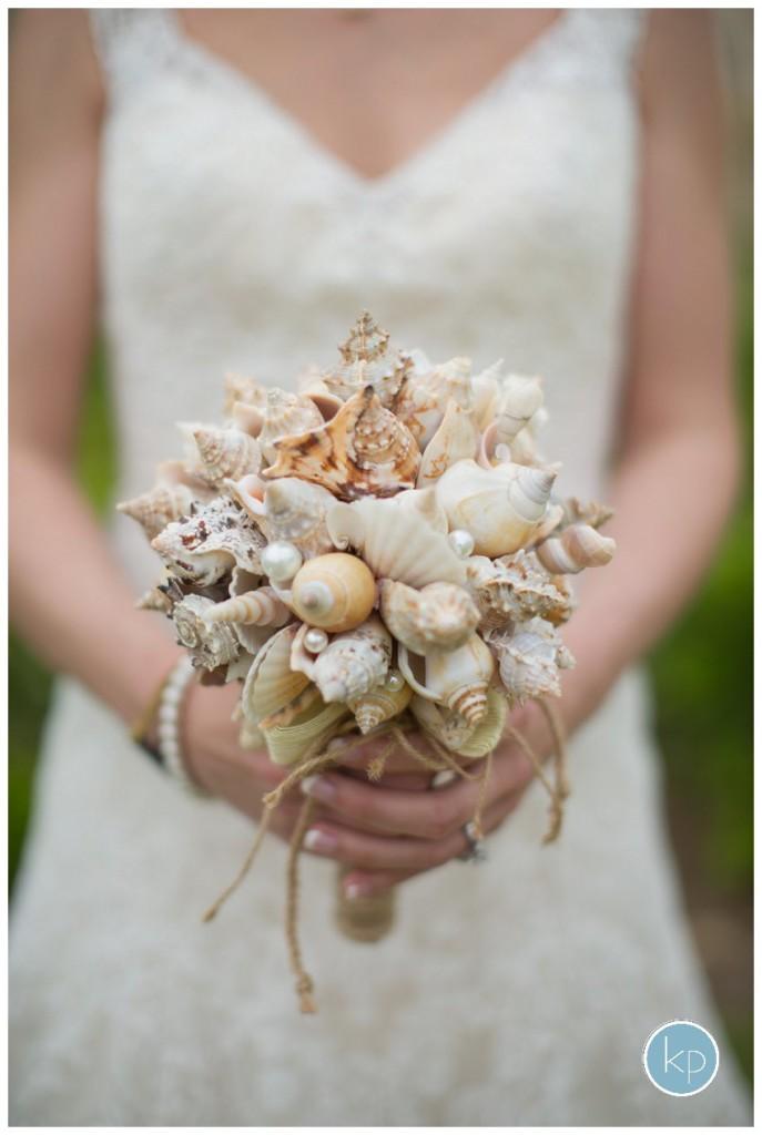 unique bouquet, shell bouquet
