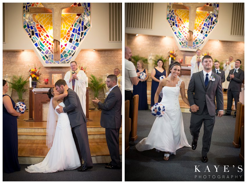 first kiss and walking out as mr. and mrs.