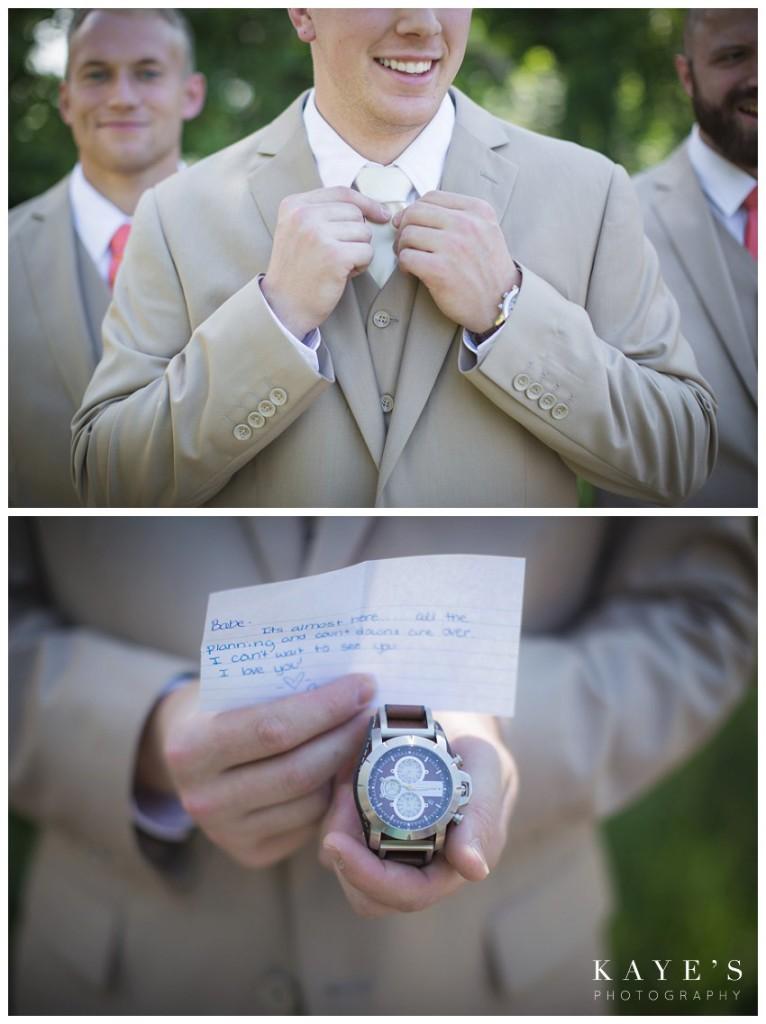 groom details, groom gift