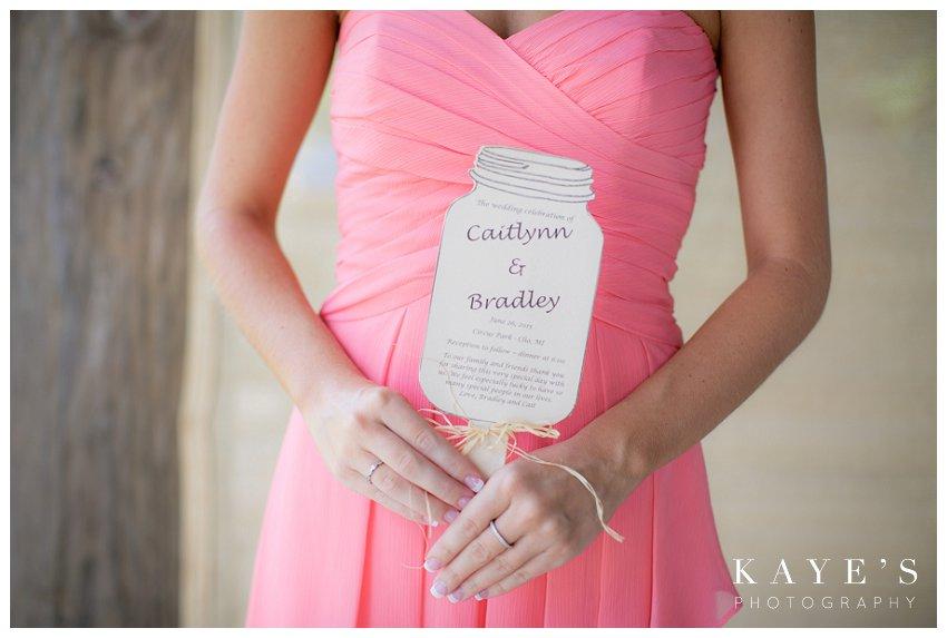 bridesmaid holding program