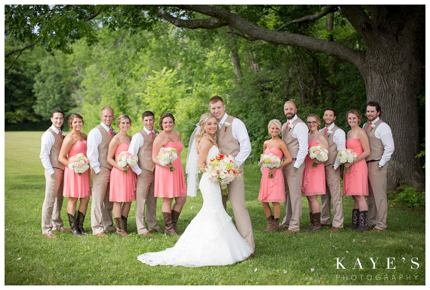 bridal party in couples