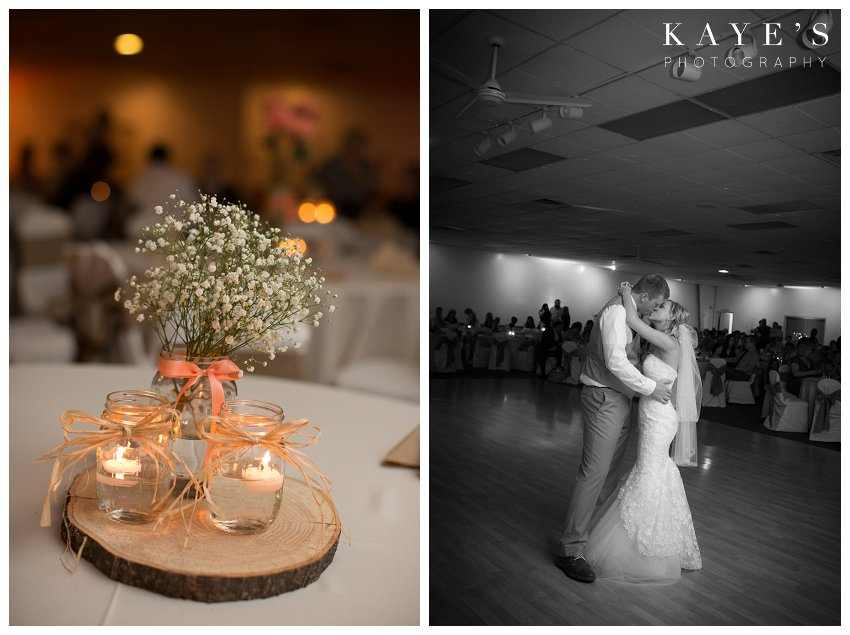 first dance with centerpiece