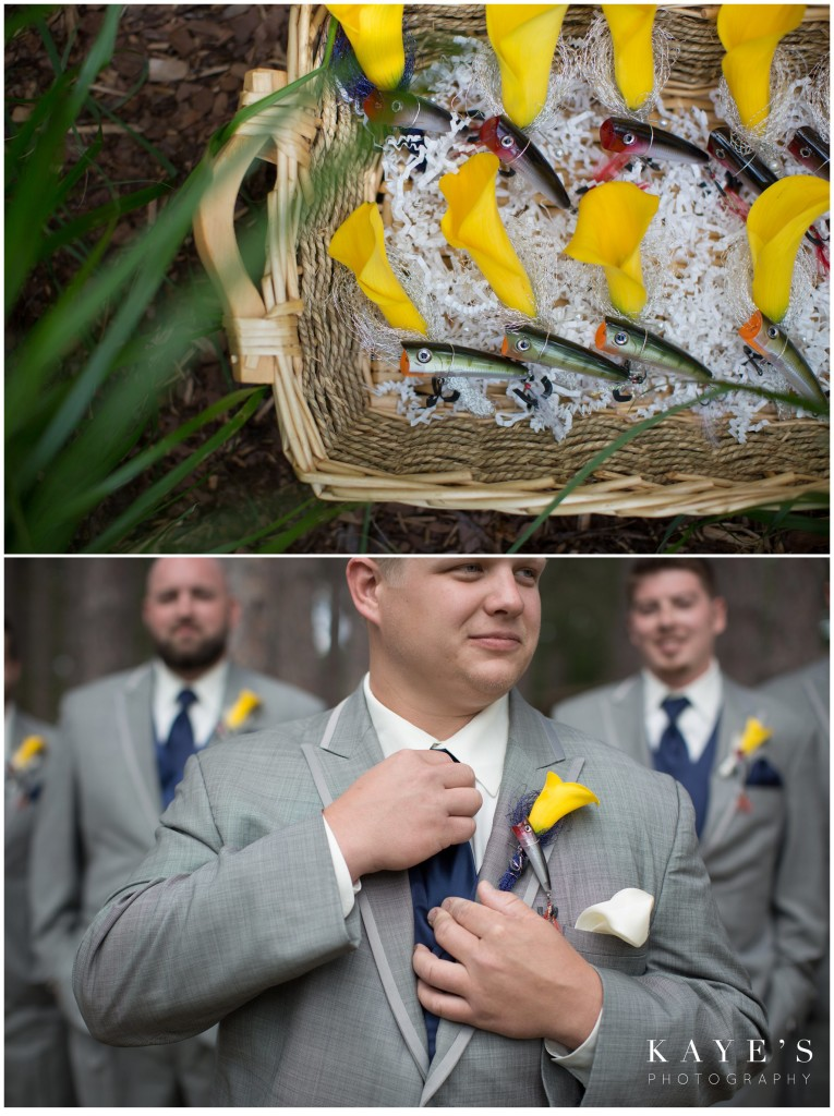 groom details with fish