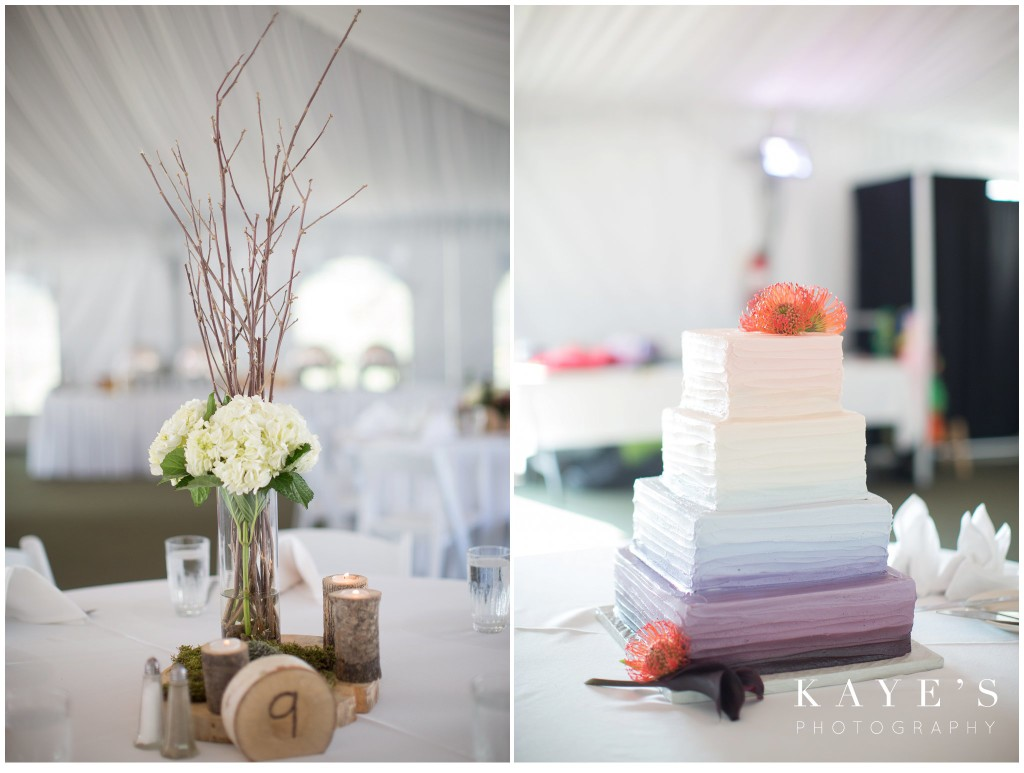reception details, centerpieces, wedding cake