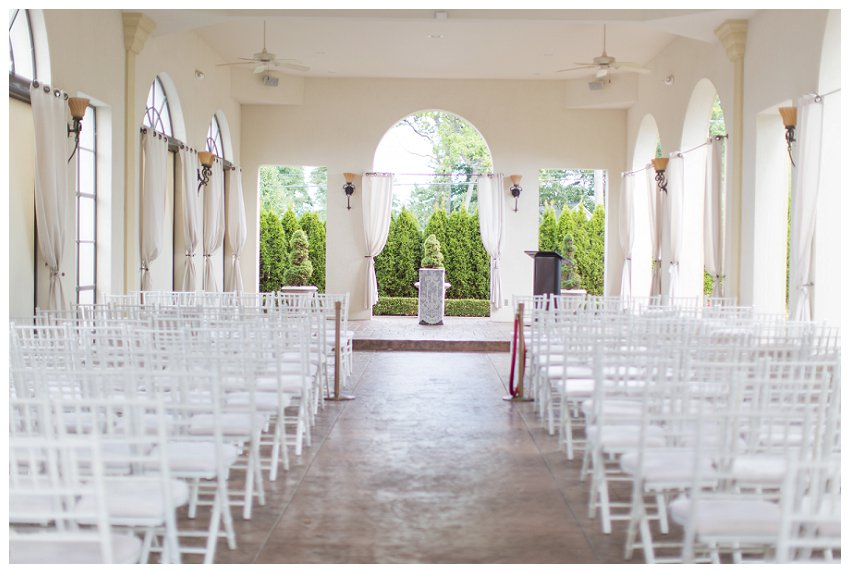 ceremony site at Crystal Gardens