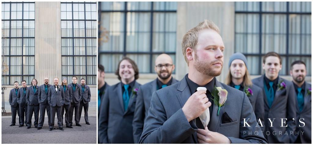 groom with groomsmens