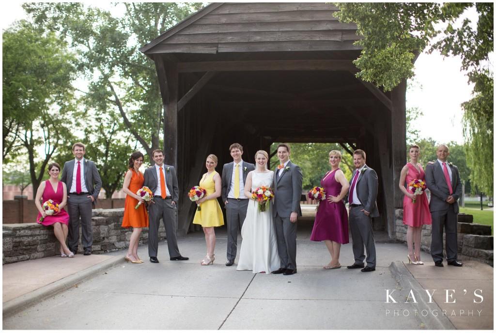 bride and groom, bridal party, wedding, henry ford lovett