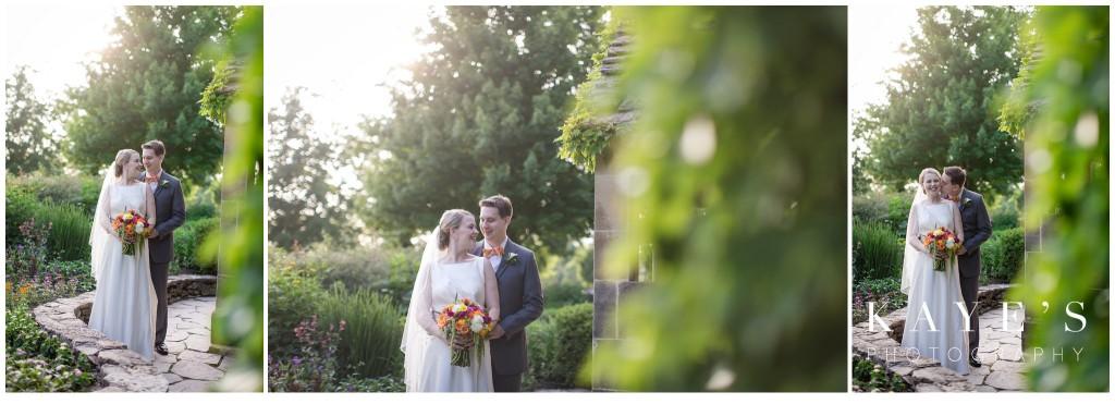 wedding, bride and groom in trees, henry ford lovett