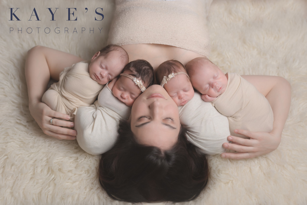 mommy with quads, 4 babies, quadruplets, natural beauty,