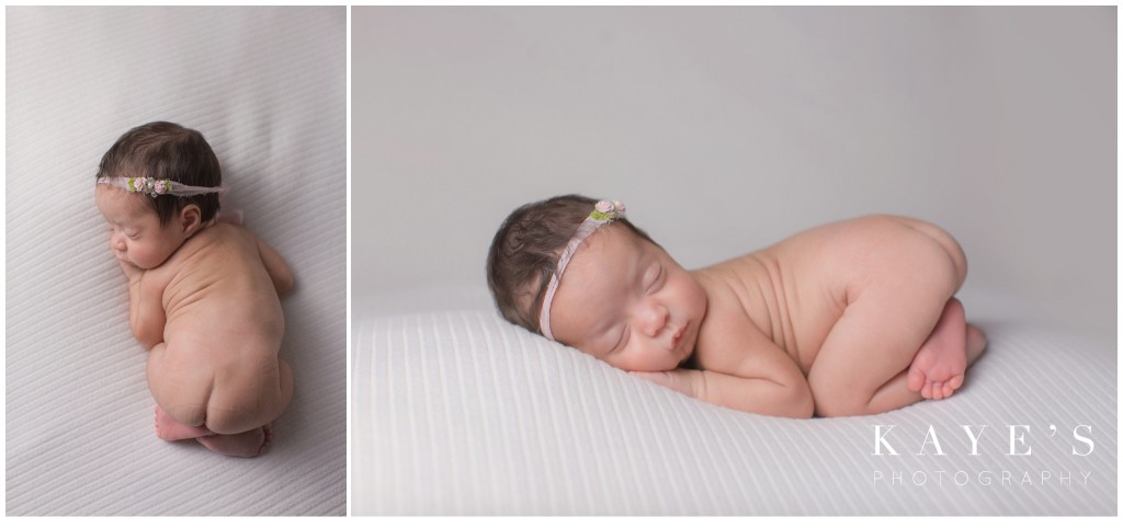 closeup of baby girl, baby girl, newborn closeup, newborn on white