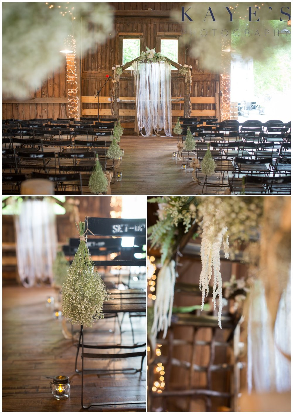 Hudsonville Michigan Wedding Photographer, Hudsonville Michigan Wedding Photography, The Old Wooden Barn Hudsonville Michigan Wedding photography, ceremony details, altar details, barn wedding, wedding decorations