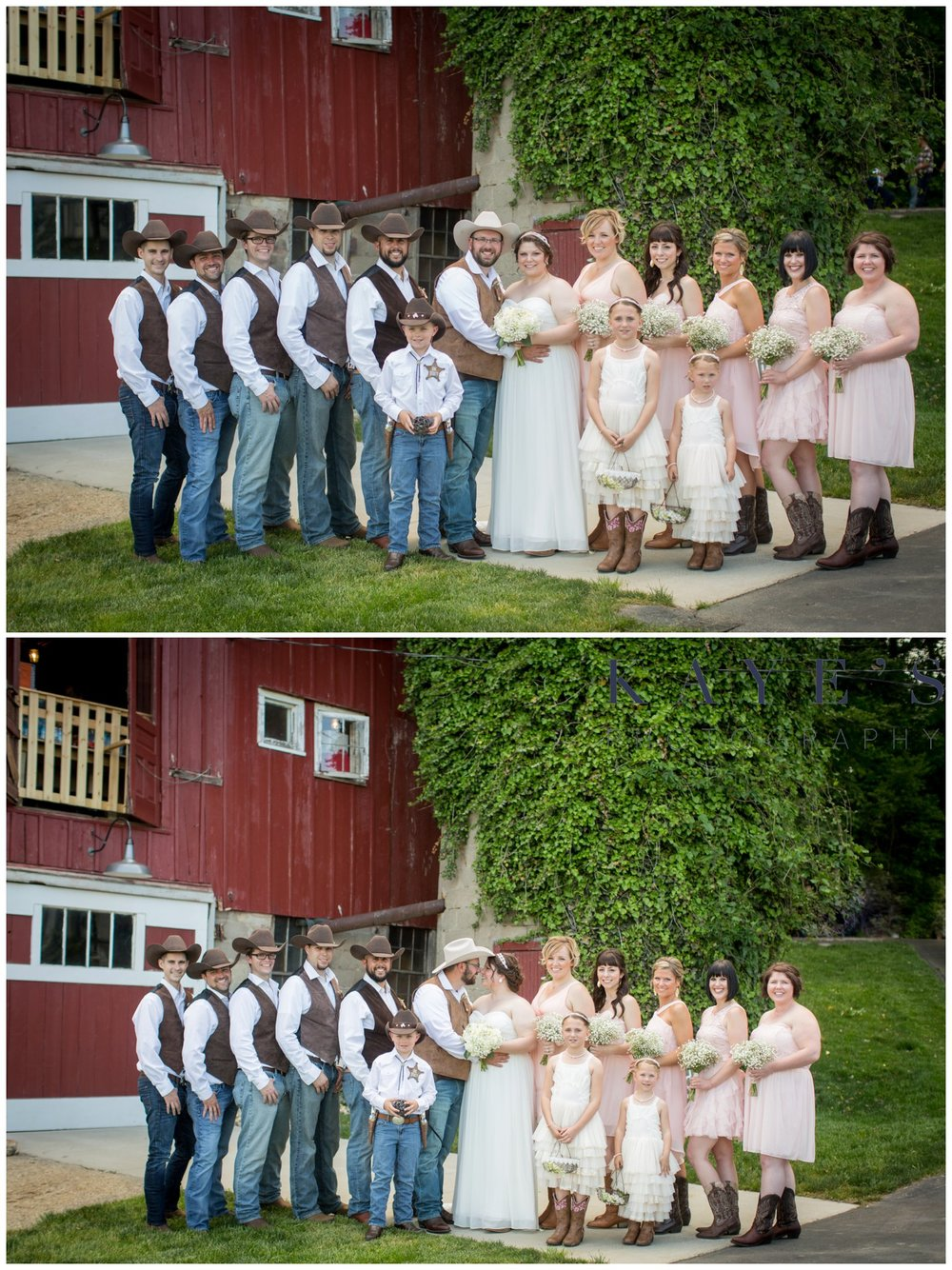 Hudsonville Michigan Wedding Photographer, Hudsonville Michigan Wedding Photography, The Old Wooden Barn Hudsonville Michigan Wedding photography, bride and groom with wedding party, barn wedding, wedding party in front of barn