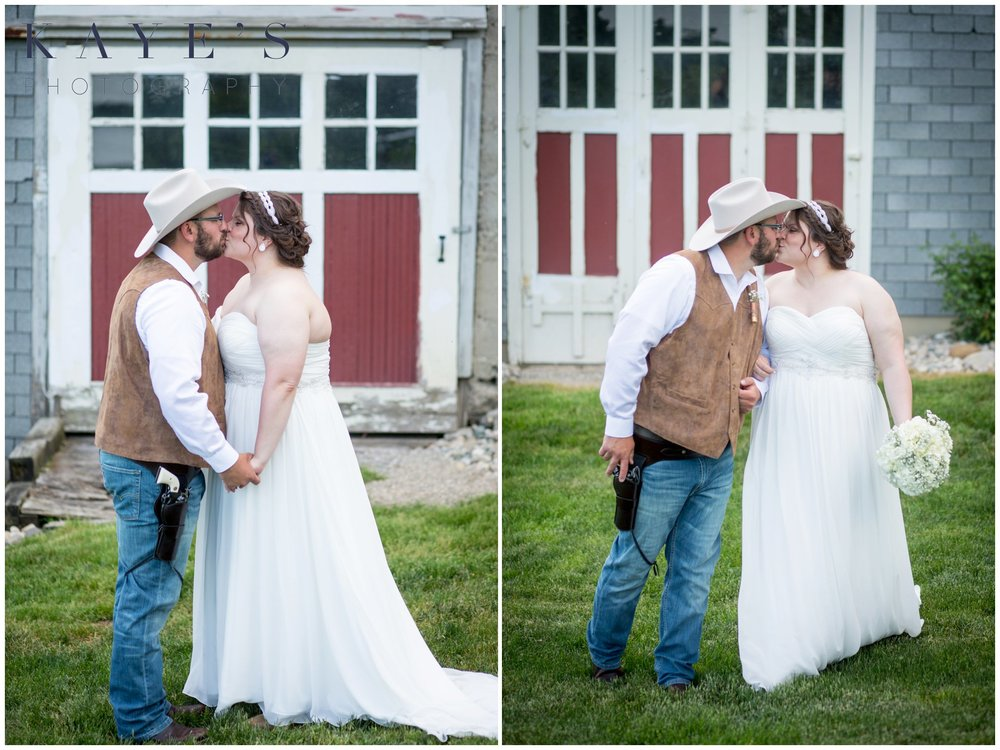 Hudsonville Michigan Wedding Photographer, Hudsonville Michigan Wedding Photography, The Old Wooden Barn Hudsonville Michigan Wedding photography, bride and groom kissing, bride and groom in front of barn, barn wedding