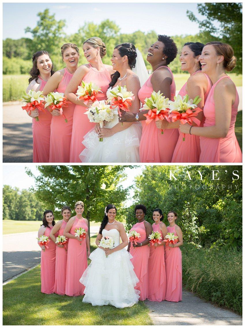 Captain's Club Wedding Photographer, Captains Club Grand Blanc Michigan Wedding photography, grand blanc michigan wedding portraits,mid michigan wedding photography, bride with bridesmaids, bride with her girls, bride laughing bridesmaids