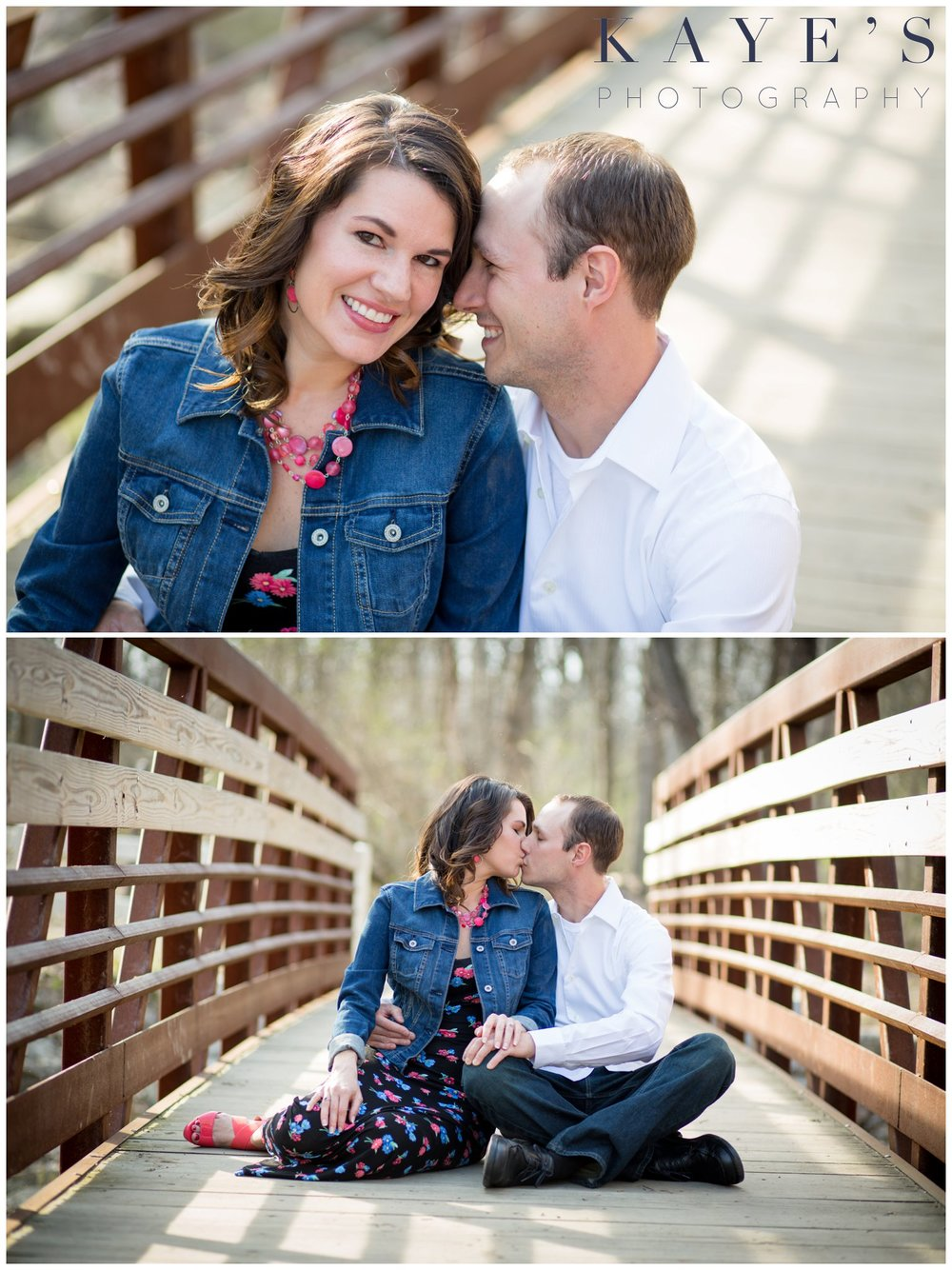 Holly Michigan wedding photography, holly michigan wedding photographer, holly michigan engagement photography, engagement photo, outdoor engagement portraits, portrait photographer, marriage photography, engagement portraits, kissing, couple hugging, couple on bridge