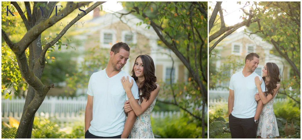 Couple posing during a professional portrait session with a top photographer.