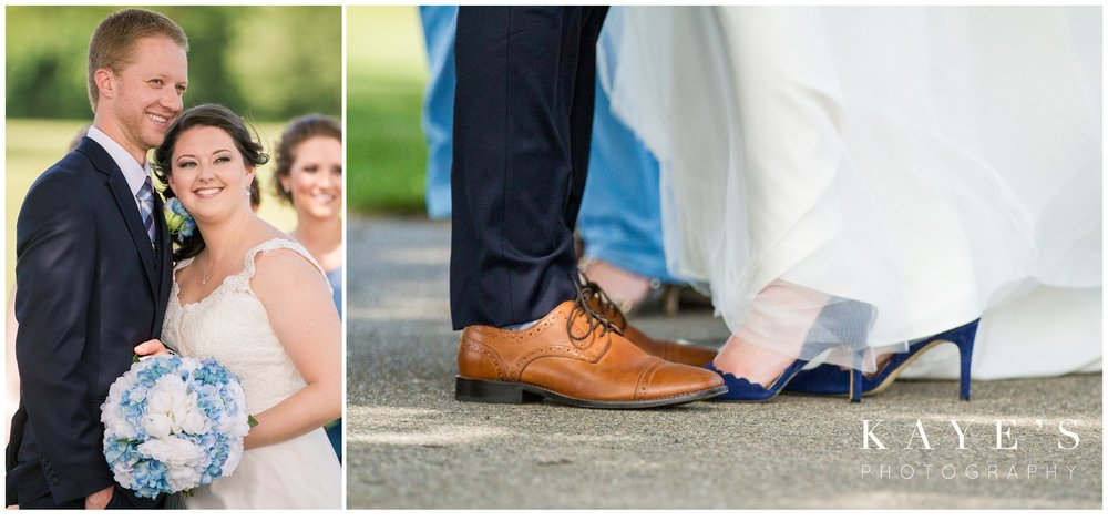 bridal and groom details while taking wedding portraits at fox hill golf club