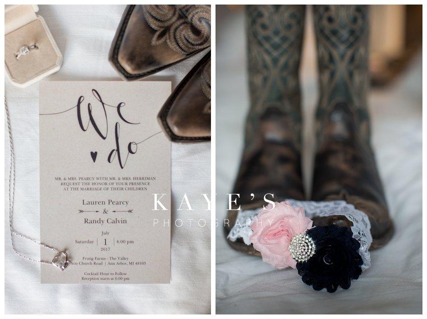 navy and blush wedding in ann arbor michigan wedding