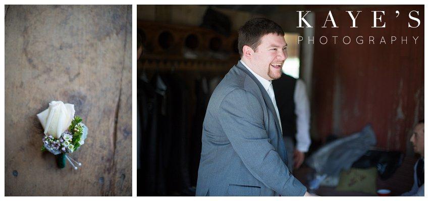 groom getting ready during a wedding in ann arbor michigan