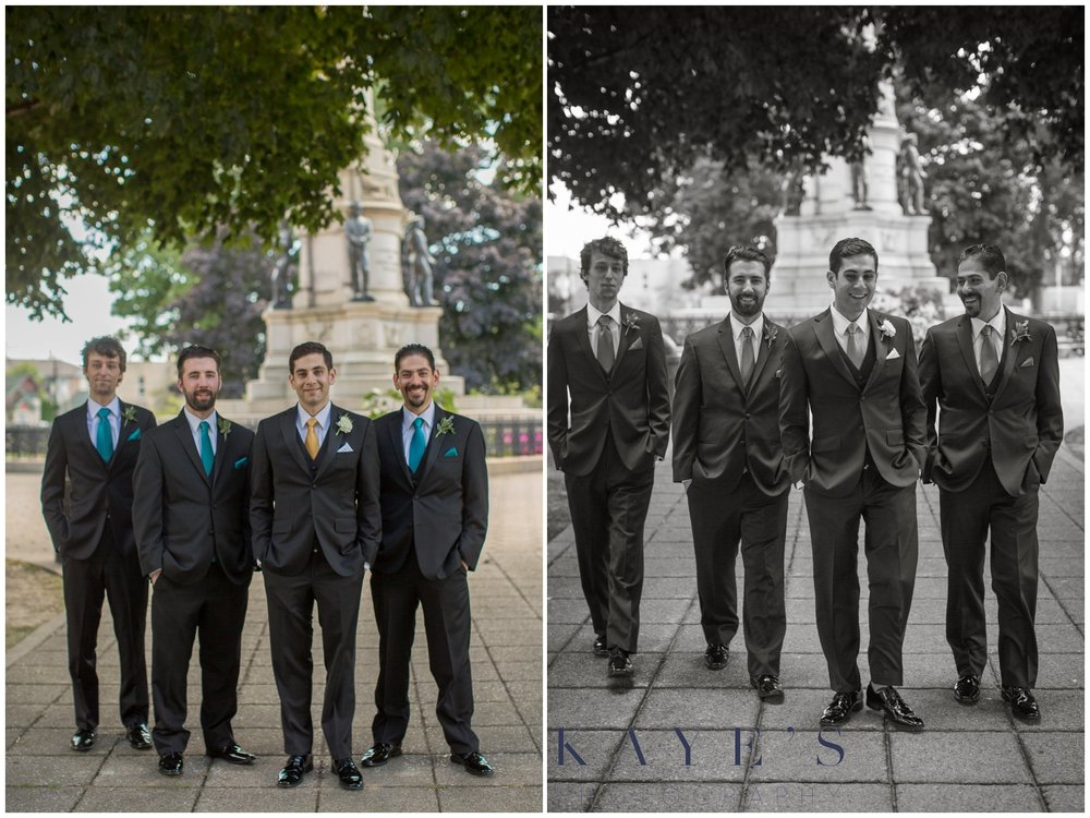 groom and groomsmen in muskegon michigan