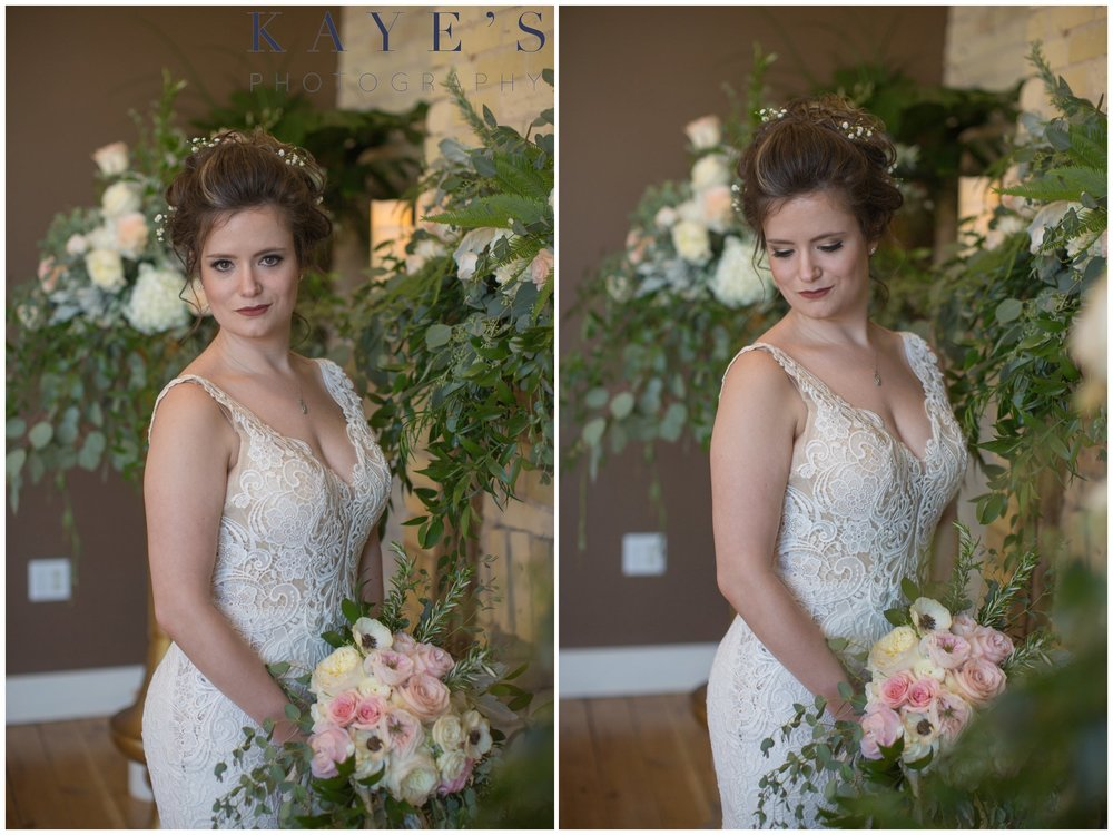 bride at century club ballroom in muskegon michigan