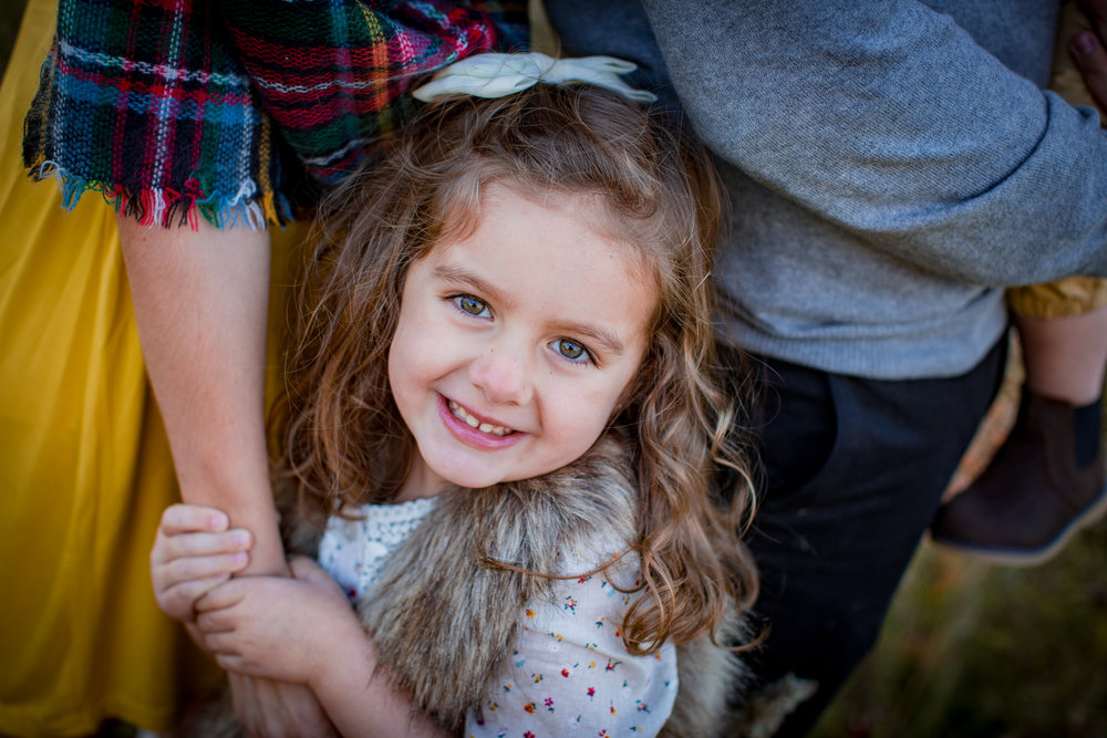 fall family portraits posing girl in grand blanc michigan