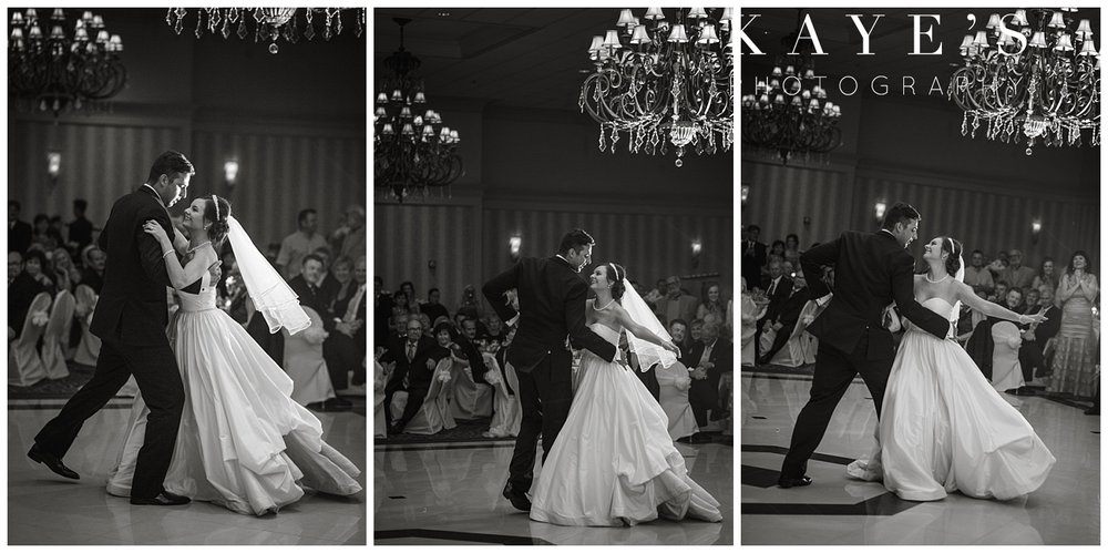 waltz dance by bride and groom for first dance captured by kayes photography at palazzo grand