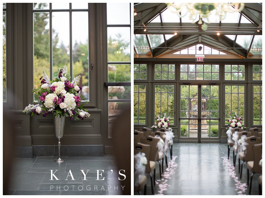 royal park hotel ceremony site in conservatory in rochester michigan