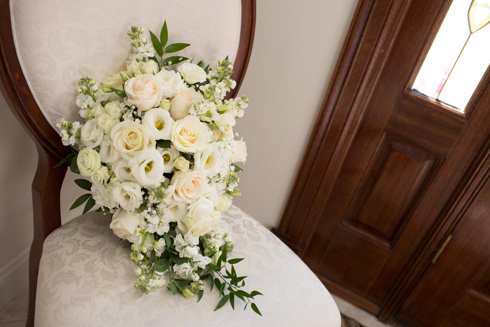bride bouquet on wedding day in rochester michigan