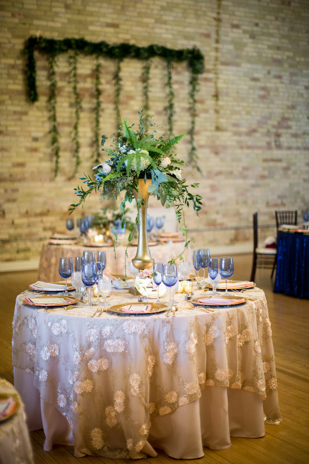 tablescape during wedding day at century club ballroom
