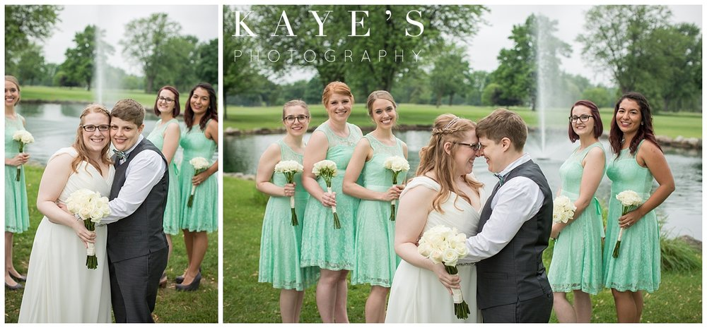 same sex bridal party in linden michigan by kayes photography
