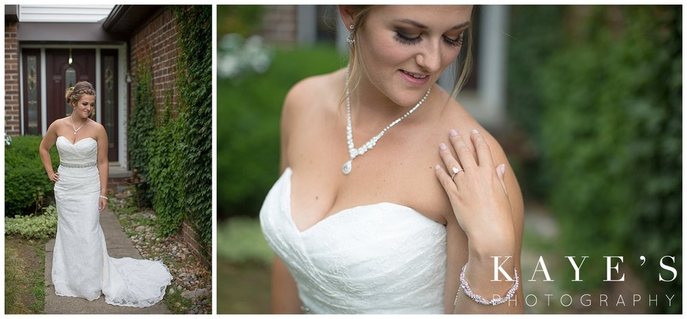 Stunning bride posing for professional photography in flint Michigan!!