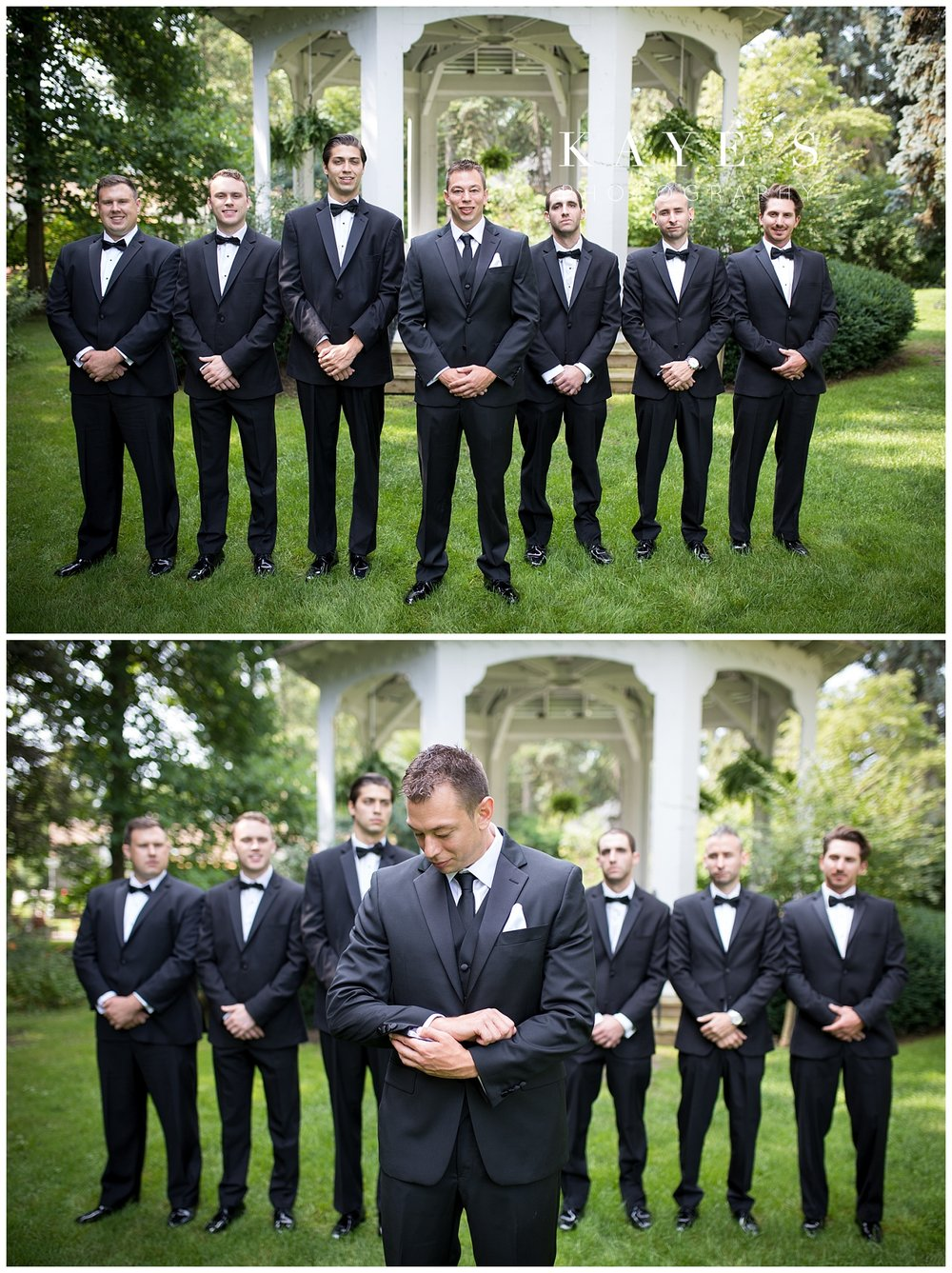 groom portraits at the governors museum in farmington with kaye's photography