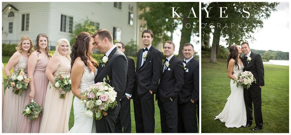 bridal party portraits done with kaye's photography at waldenwoods in howell michigan