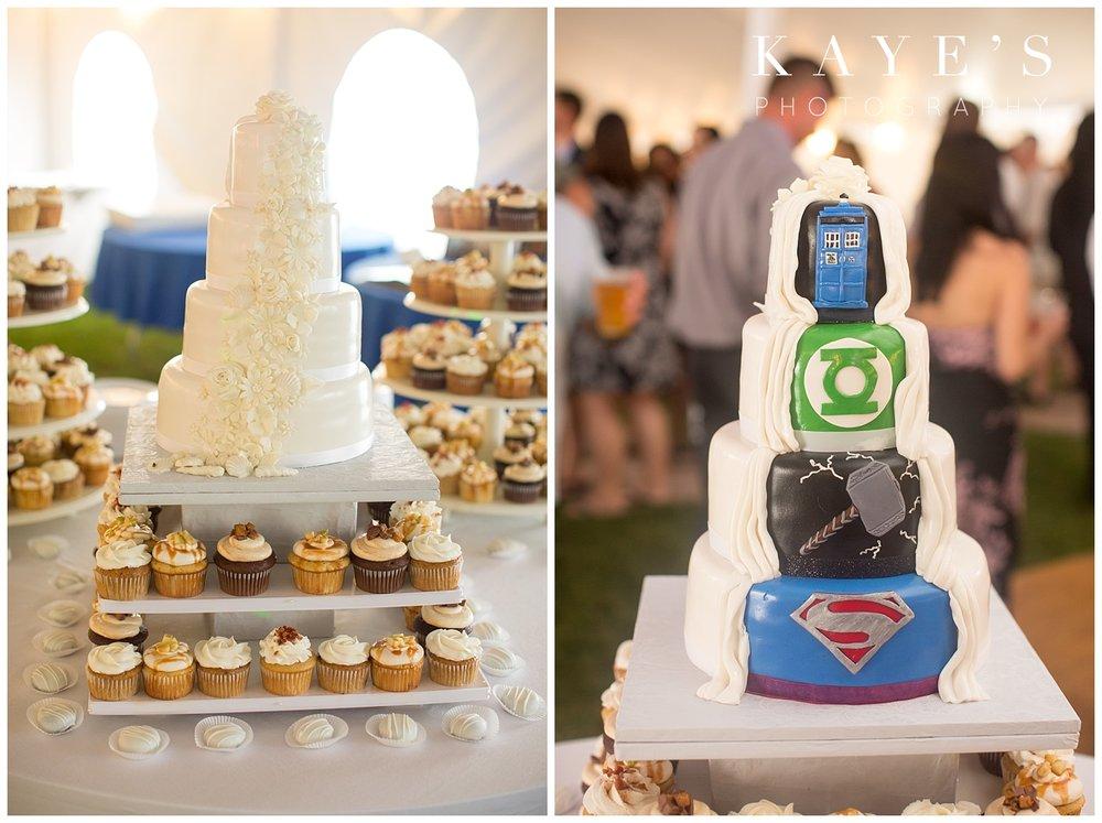 Very unique wedding cake in tawas city Michigan beach wedding