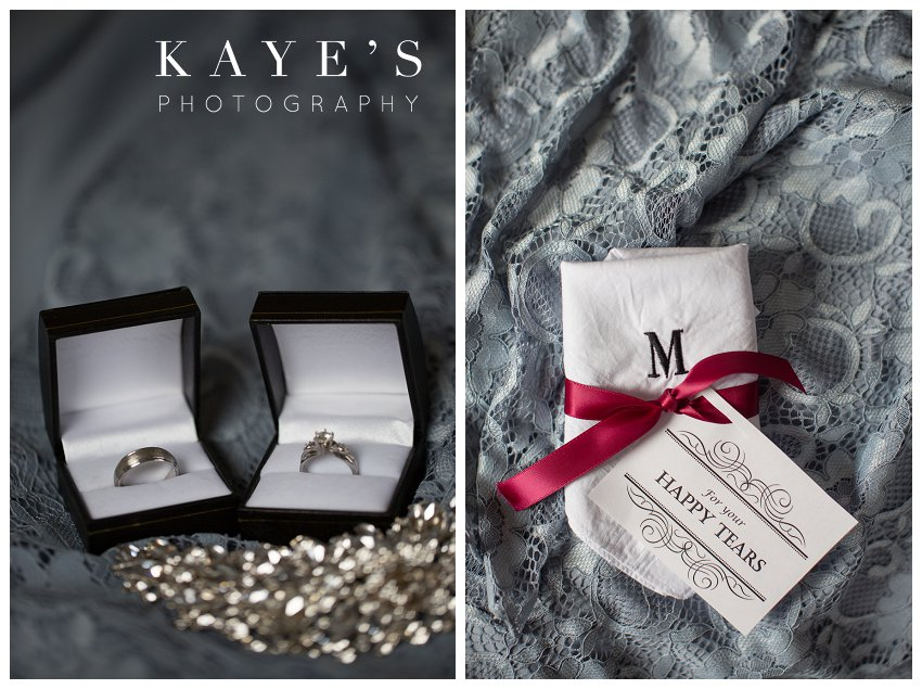 bride and groom details by kaye's photography michigan wedding photographer