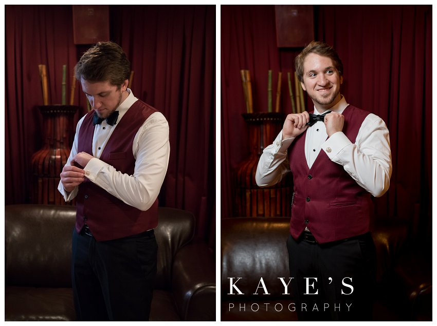 groom portraits with kaye's photography
