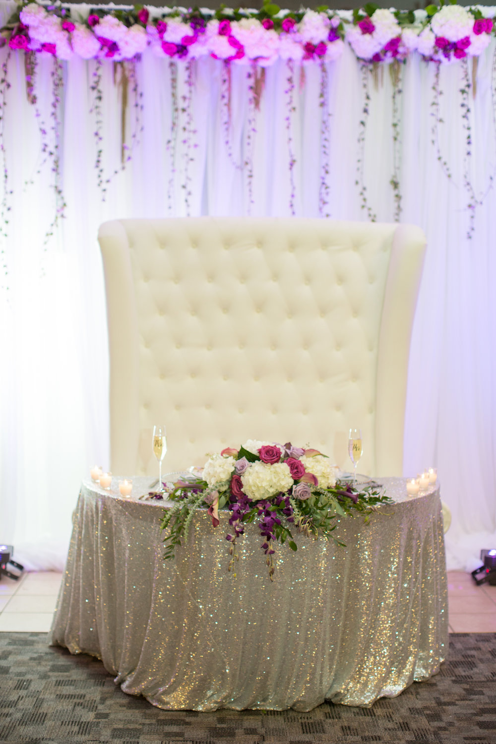 sweetheart table for the bride and groom in gaylord michigan by kayes photography