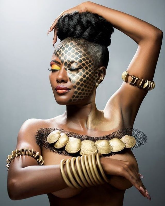 #photography #O'BrienBrown #africancouture #melaninmodel #poshdeux #inspired #models #hair #fashion #makeup #jewelry #jointheposhmovement