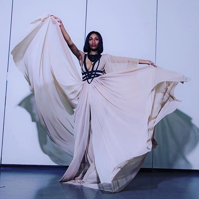 We collaborate to showcase! #potd @ambrosejay #detroitfashion #fashion #dress #dressdesigner #detroitevent #charityevent #fashiondesigners #fashiondesigner @dianeberry_ for #poshdeux #jointheposhmovement #model @model_diamondsmith
