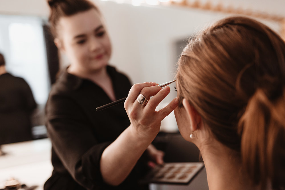 Behind the scenes of a bridal hair+ makeup trial from Diana of ONLO, during their Brand Imagery session! Check out the highlights from this session at the bottom of the page!