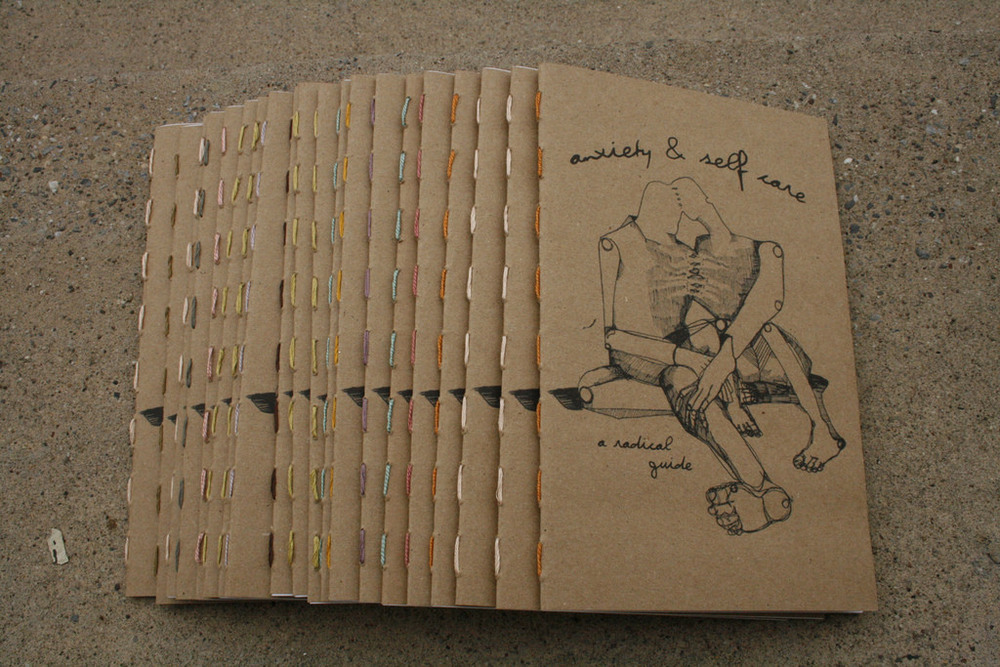 anxiety & self care zine, 2011