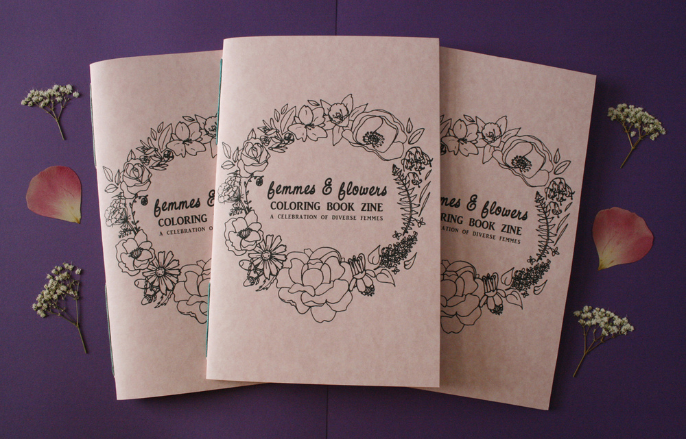 femmes & flowers coloring book, 2016