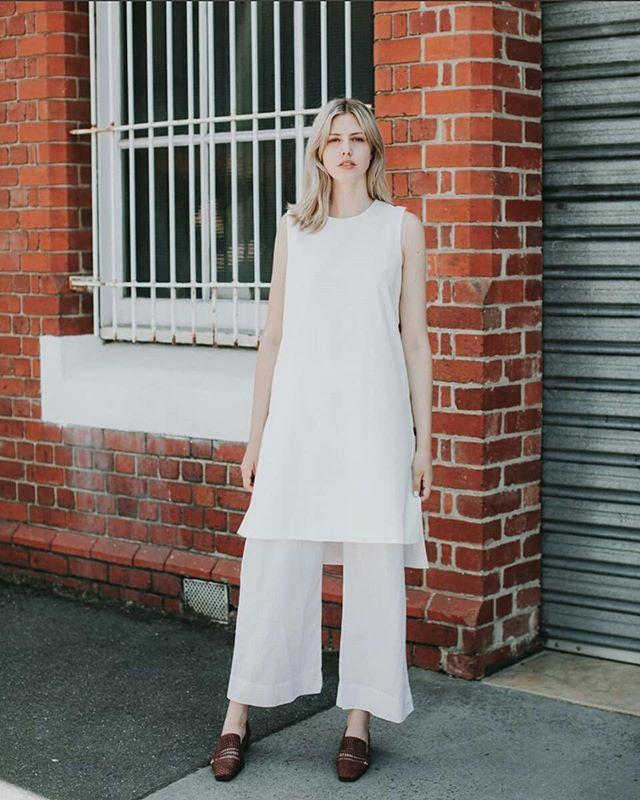 Crisp whites via @lagom_studio featuring our Reversible Kurta in white