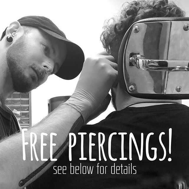 My darling apprentice @adornedbyblack is taking appointments to perform select piercings! Swipe to see some that he's done ✨ Piercings will be performed under my supervision and guidance. We will be waiving the service fee and offering basic jewelry for as low as $10 each. PM myself or @adornedbyblack for details!!!!
